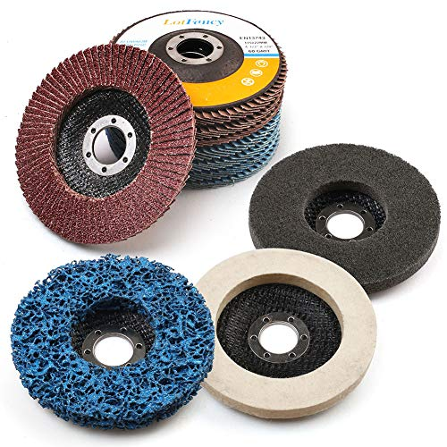 11PCS 4.5 Inch Flap Discs & Grinding...