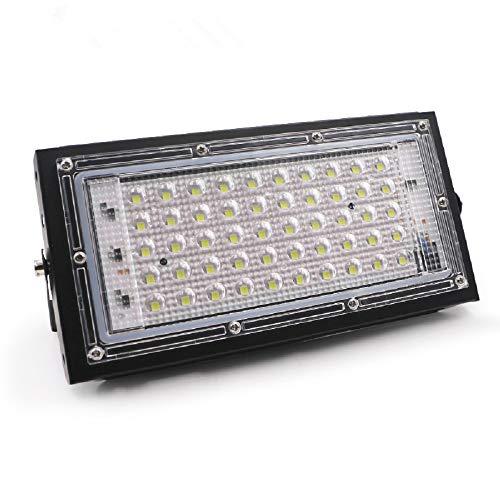 YOREN Luz de Inundación LED 50W 6500K Lámpara de Jardín con Foco de Seguridad Impermeable Al Aire Libre 110V 220V Luz Del Día para Jardín Trasero