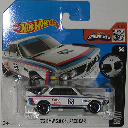 Hot Wheels '73 BMW 3.0 CSL Race Car 2016 190/250 (Short Card) by