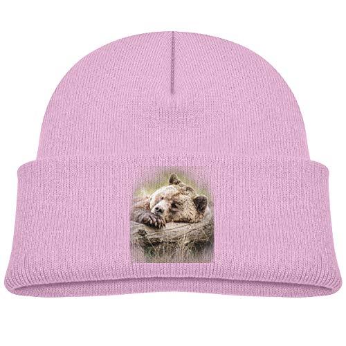 U are Friends Casquette de Baseball réglable Lazy Grizzly Bear tricotée Hat Boy Girl Kids Sports