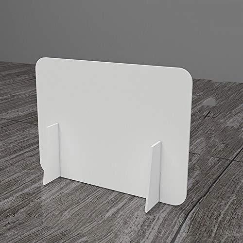 JWW Protector De Estornudo Panel De Protección De Acrílico Mampara Protectora Mampara Protección Contagios Separador 60 * 40cm