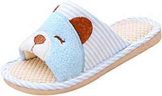 Kids House Indoor Shoes, MS-SM Children Toddler Baby Infant Girls Boys Slip-On Solid Fluffy Outdoor Bedroom Bathroom Slippers