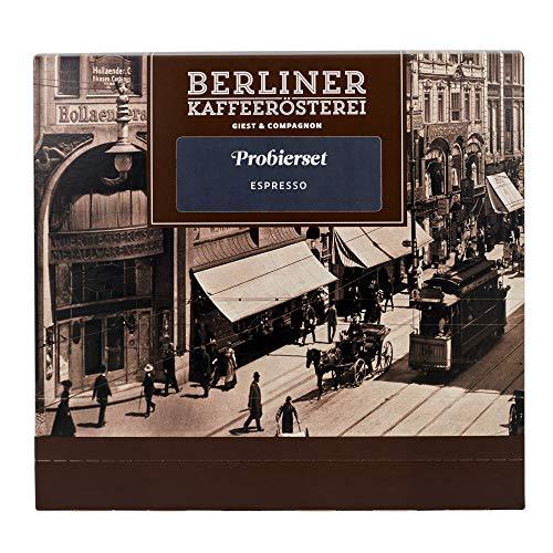 Probierset Espresso | 8 Sorten á 75g | Ganze Bohne | Geschenk für Kaffeeliebhaber | Berliner Kaffeerösterei