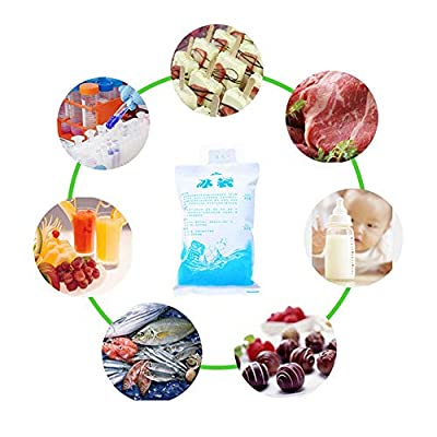 25PCS Reusable Gel Ice Cooler Pouchs for Food S...