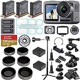 DJI OSMO Action Camera Bundle with 3 Batteries, Charging Hub, Adjustable Polarizer Filter Set, SD...
