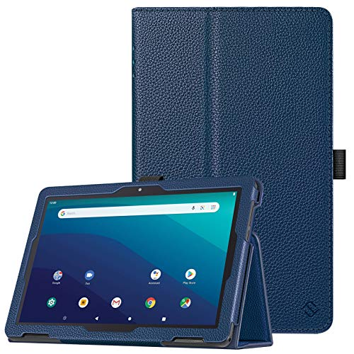 "Fintie Case for Onn. 10.1"" Tablet 2020 - Premium Vegan Leather Folio Protective Stand Cover with Pencil Holder for Onn 10 inch Tablet Generation 2 (Model: 100011886) (Navy)"