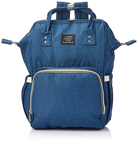 Bolsa mochila maternidade Land original azul multifuncional