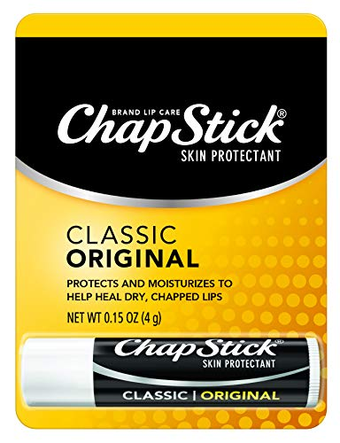 ChapStick Classic (Regular Flavor) Skin Protectant Lip Balm Tube, 0.15 Ounce (Pack of 12)
