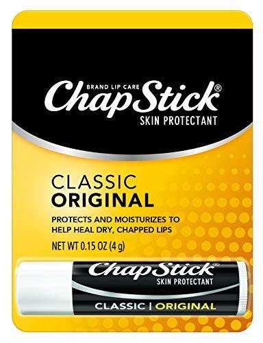 ChapStick Classic (Regular Flavor) Skin Protectant Lip Balm Tube, 0.15 Ounce - 12 ct