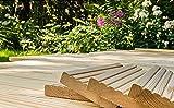 10€/lfm Terrassendiele sibirische Lärche Massivholz Gartenholz Terrassenholz Naturholzdielen Massivdiele (fein, 100)