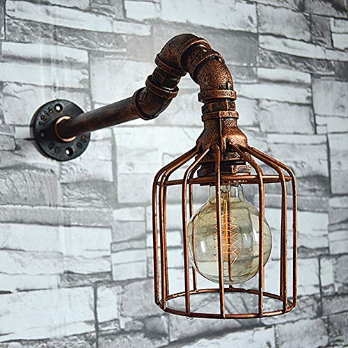 SICILY Vintage Industrial Apliques De Pared Lámpara De Pared Con E27 Socket Acabado De...