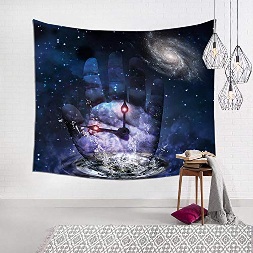 bjyxszd Decoración de Dormitorio Alfombrilla para Yoga Toalla para playaTapiz de la Serie de Calavera en Blanco y Negro 3D,Tapiz de Tela Tapiz de Fondo-4_El 150x130cm