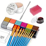 CCbeauty 12 Color Face Paint (5.64Oz),Halloween Stage Special Effects Kit Wound Scar Wax...