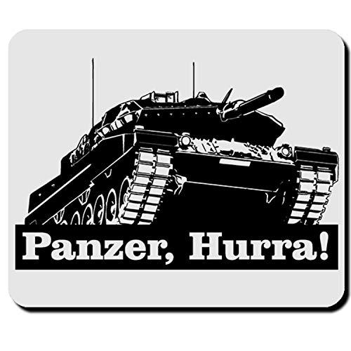 Panzer, Hurra! Leopard 2 Panzerfahrzeug Panzerkampfwagen BW Mauspad #5418