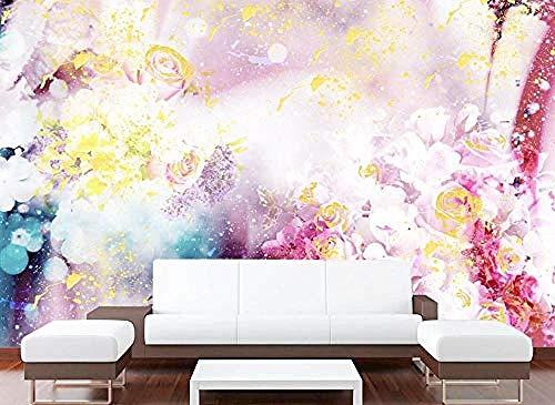 ZZXIAO Pared Pintado Papel tapiz 3D Belleza romántica Flor de rosa l baño l dormitorio Sala de estar la cocina Decoración Fotográfico Fotomural sala sofá pared mural-430cm×300cm