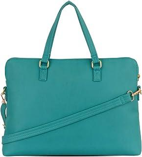 Baggit Autumn/Winter 2020 Faux Leather Women's Satchel Handbag (Green) (Many)