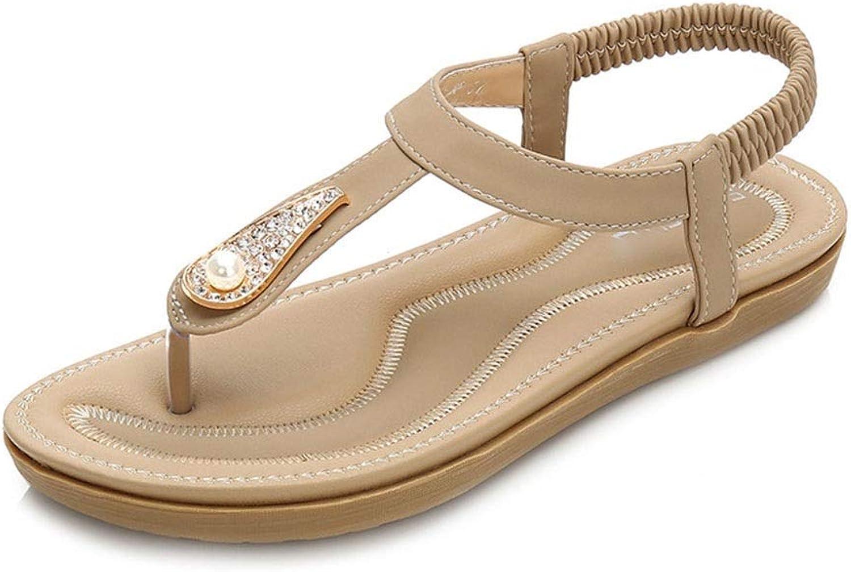 WENNEW Summer Bohemian Rhinestone Prosperous Flavorless Sandals