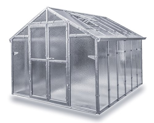 Gewächshaus Junior NEU aus verzinkten Metallprofilen und Echt-Glas, Breite 2,49 m (Länge 4,06 m) Gebraucht = Fake-Angebot