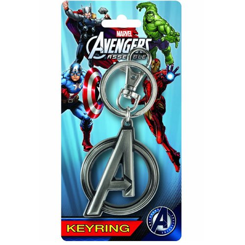 Monogram Marvel Captain Marvel Logo Pewter Porte-Cl/és