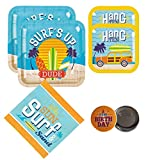 Surf Party Supplies Beach Summer 16 Guests - Large and Small Plates, Napkins