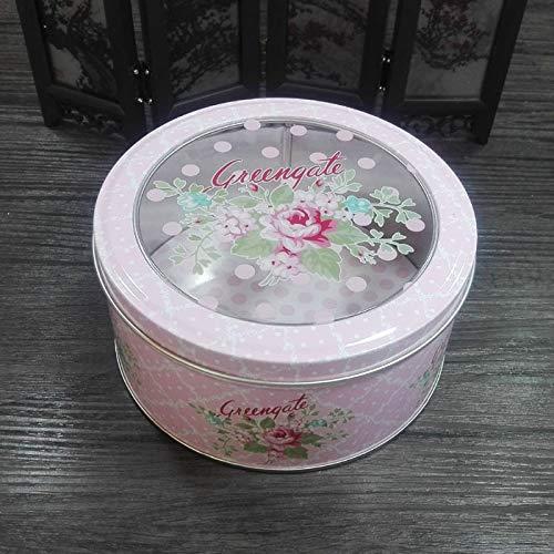 IU Desert Rose Boîte-Cadeau de Couverture Transparente de Fleur Boîte-Cadeau de Biscuit de Fer-Blanc (Greengate)