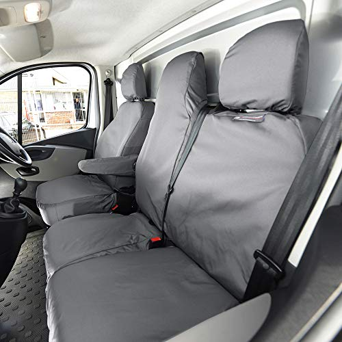 Vauxhall Vivaro LWB Sportive SEAT COVERS CAMOUFLAGE VAN CAMO BLUE HEAVY DUTY 2-1