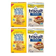 Nabisco Wheat Thins Original and Triscuit Original Crackers Variety Pack, 4 Boxes