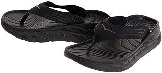 Hoka 1099675: Mens Ora Recovery Flip Flops, Black/Dark Gull Gray
