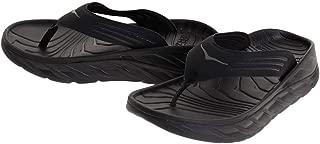 Hoka 1099675-BDGGR: Men's Black/Dark Gull Gray Ora Recovery Flip Sneaker