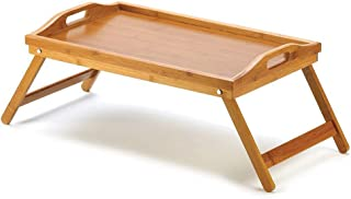 Serving Tray Tea Coffee Table Wooden Breakfast in Bed Gift Present 53x33x23cm