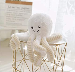 HYL World 15.7 Inches Plush Cute Octopus Dolls Soft Toy Stuffed Marine Animal for Home Decor Christmas Birthday Gifts-White