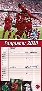 FCB Fanplaner. Wandkalender 2020. Monatskalendarium. Spiralb