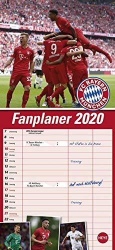 FCB Fanplaner. Wandkalender 2020. Monatskalendarium. Spiralbindung. Format 16 x 34,7 cm