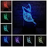 Bailarina Moderna Danza Lady Lámpara 3D Noche USB Iluminación Led Ballerinator Navidad Decora Luminaria Amistad Linterna