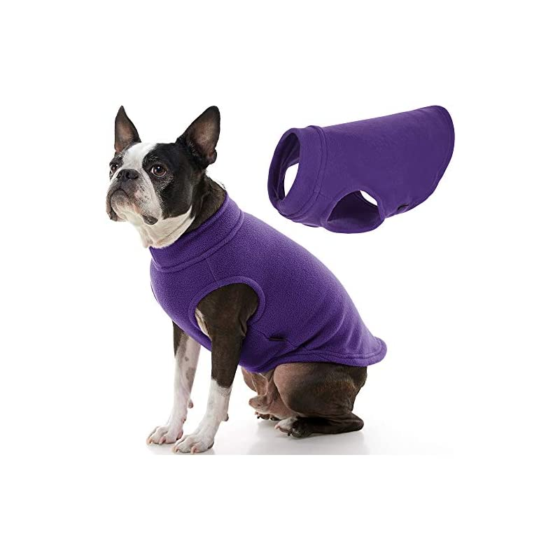 dog supplies online gooby stretch fleece dog vest - violet, large - pullover fleece dog sweater - warm dog jacket winter dog clothes sweater vest - dog sweaters for small dogs to large dogs for indoor and outdoor use