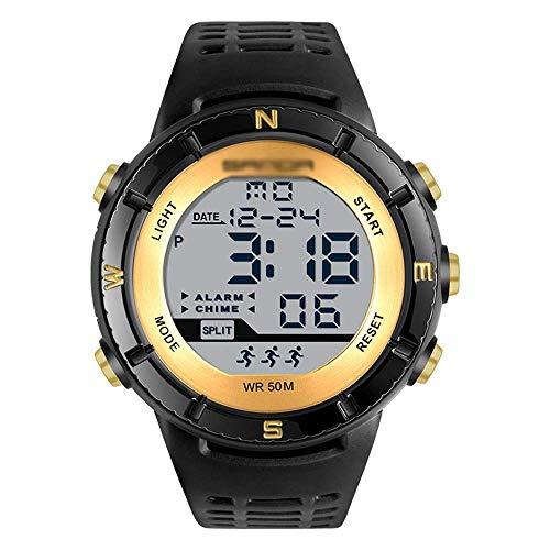 SXXYTCWL Individual Hombres Movimiento Reloj Deportivo, Digital Display Luminoso Impermeable del Reloj, Ocio Reloj electrónico, el Choque y Resistencia a caídas E jianyou (Color : B)