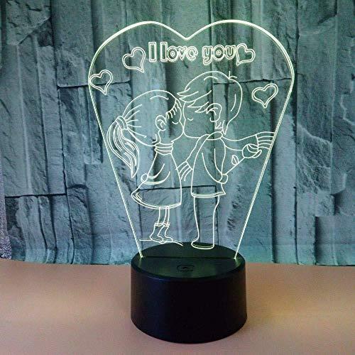3D lamp speciaal model Made I Love You tafellamp voor slaapkamer kus bruiloft romantische touch lamp 3D lamp LED