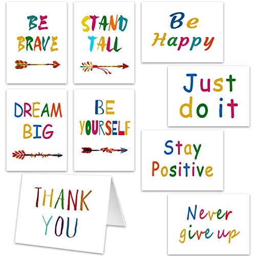 72 Pieces Inspirational Greeting Cards Inspirational Quote Cards Motivational Note Cards with 72 Envelopes for Inspiring Friends Families Graduates Students
