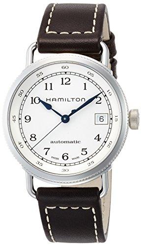 [ハミルトン] 腕時計 カーキ ネイビー パイオニア オート H78215553 正規輸入品 ブラック