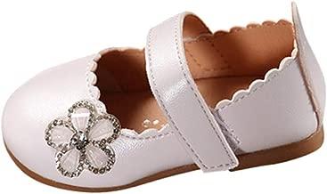 Zapatos para Bebe Niñas Primeros Pasos Bautizo Primavera Verano 2019 PAOLIAN Sandalias Fiesta Princesa Vestir Niñas Boda Calzado Recién Nacidos Suela Blanda Zapatillas Cuero Rojos EU 19-26