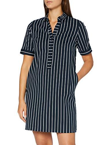 Betty Barclay Collection Damen 1089/1666 Kleid, Dark Blue/Cream, 44
