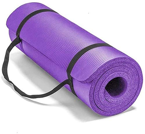 Smallrun Alfombra yoga pilates gruesa Esterilla Pilates Antideslizante 10mm Alfombrilla de Yoga Colchoneta de Yoga Esterilla Deporte Fitness 183x61x1cm (10MM-Morado)