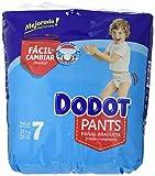 Dodot - Pants pañal-braguita talla 7, 23 pañales, 17kg+, unisex
