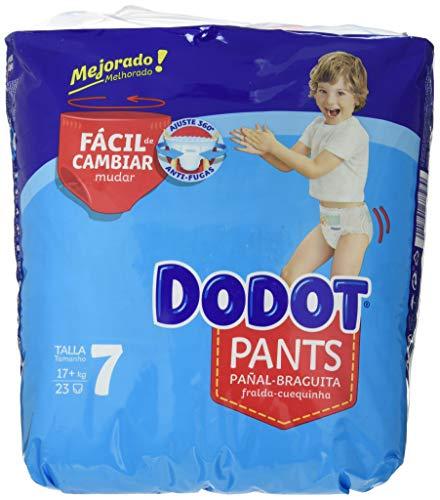 DODOT - Pants pañal-braguita talla 7, 23 pañales, 17 kg, unisex (8001841677279)