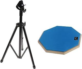 gazechimp ダムドラム+ドラムスタンド 丈夫 便利性 調節可能 据え付け簡単 ドラム練習用 練習パッド付き