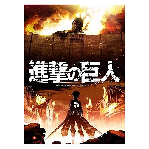 SGOT evebel Anime Kraftpapier Poster Attack on Titan Poster Levi·Ackerman Thema Dekoration 42 x 30cm(Style 02)