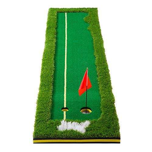 NENGGE Golf Puttingmatte Set Indoor Outdoor Faltbar Golf Übungsmatte Professionelle Tragbare Golfmatte für Zuhause Büro Garten, Golfübungsgeräte Minigolf Trainer,Four Color Grass,0.5×3m