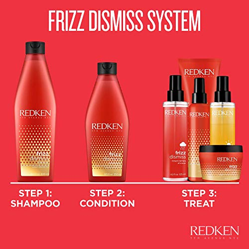Redken Frizz Dismiss Instant Deflate Oil-In-Serum | For Frizzy Hair | Enhances Smoothness & Shine | With Babassu Oil | Sulfate Free