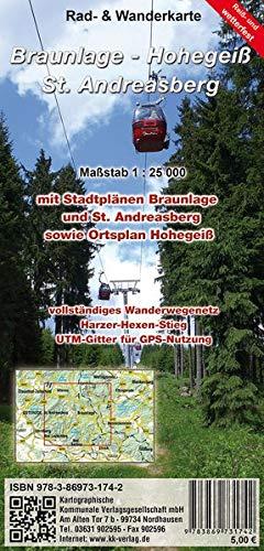 Braunlage - Hohegeiß - Sankt Andreasberg: Rad- und Wanderkarte (wetterfest)