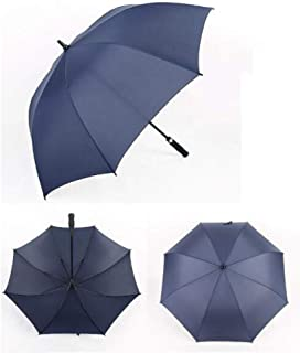 Automatic Folding Umbrella, 10 Rib Reinforcement, Easy to Carry One-Button Open Suitable for Both Men and Women ,with Ergonomic Handle (Blue)